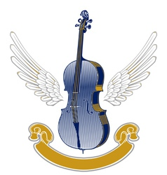 music wing emblem vector image