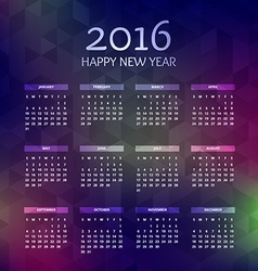 New year 2016 calender vector