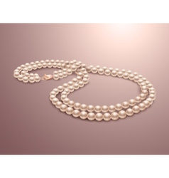 Pearl necklace realistic vector