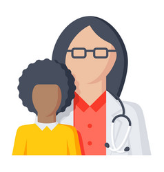 pediatrician icon vector image
