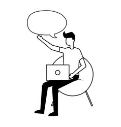 people talking bubble vector image
