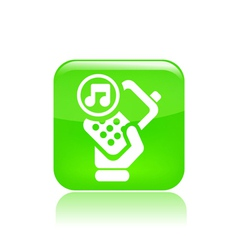 phone audio icon vector image vector image