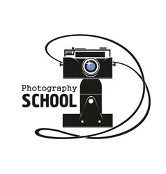 Photography school camera icon vector