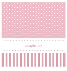 Pink card or bashower invitation with dots vector