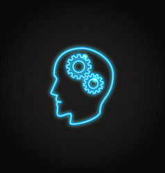 Psychology concept neon icon in line style vector