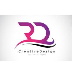 Rd r d letter logo design creative icon modern vector