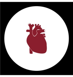 red human heart simple red icon eps10 vector image