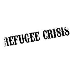 Refugee crisis rubber stamp vector