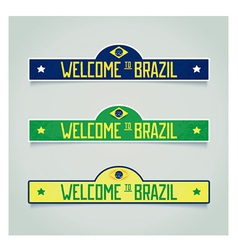 Retro labels - Welcome to Brazil vector
