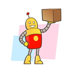 robot courier vector image