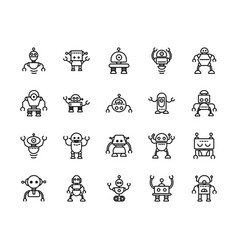 robot technology character artificial machine vector image
