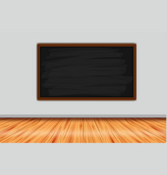 Room with chalkboard on the wall vector