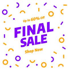 Sale banner template design special offer vector