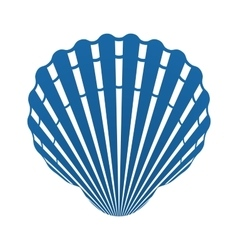 Scallop seashell mollusks icon sign isolated vector