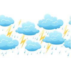 seamless pattern with thunderstorm vector image