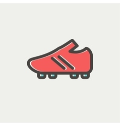 Soccer Shoes thin line icon vector image