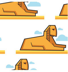 sphinx egyptian architecture seamless pattern vector image