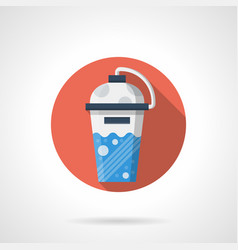 Sport cocktail shaker flat round icon vector