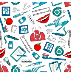 Stomatology and dentistry seamless background vector image