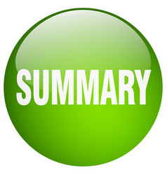 Summary green round gel isolated push button vector