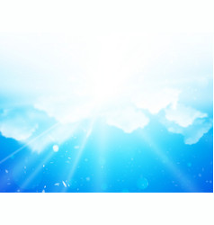sunshine sky clouds background vector image