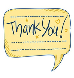 Thank You Comics Bubble vector image