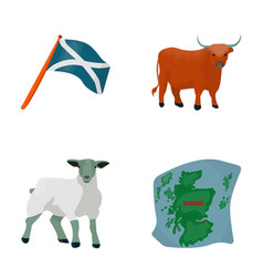The state flag of andreev scotland the bull the vector