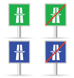 traffic sign freeway color vector image