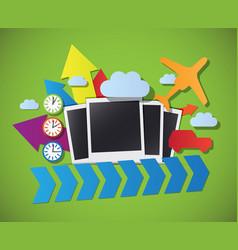 travel photos vector image
