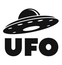 ufo ship logo simple style vector image
