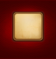 Vintage background with old paper and red wall vector image vector image