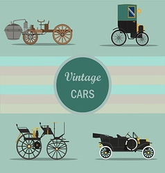 vintage car 04 vector image