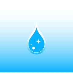 water background with drop vector image