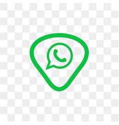 whatsapp social media icon design template vector image