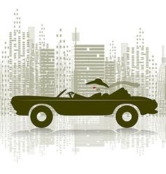Woman in car vector image vector image