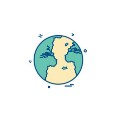 world globe icon design vector image