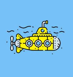 Yellow submarine icon vector