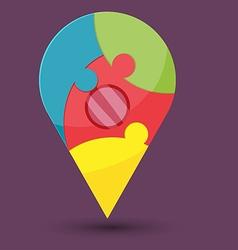 Abstract Navigator Jigsaw Color Symbol vector image vector image