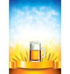 beer wheat vertical background vector image