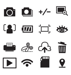 camera mode icons symbol vector image