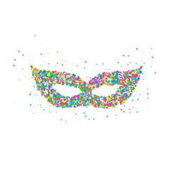 carnival mask pattern vector image