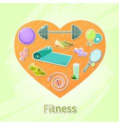 Fitness heart vector
