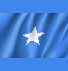 flag federal republic of somalia vector image vector image