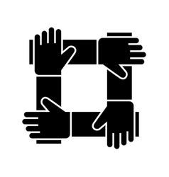 partnership - collaboration - help icon vector image
