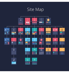Site Map 02 pr vector image vector image