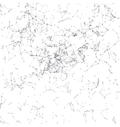 Abstract background Black connecting dots on white vector image vector image