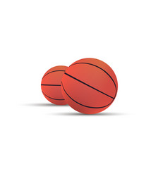 basketball ball isolated sport background icon vector image