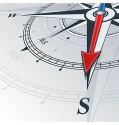compass south vector image vector image