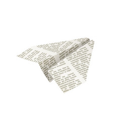 paper origami airplane vector image vector image