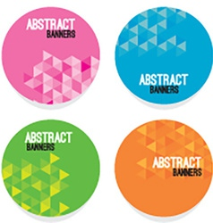Set Of Four Abstract Banners vector image vector image